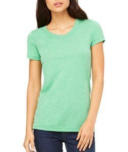 Bella womens Triblend Short-Sleeve T-Shirt(B8413)-GREEN TRBLND NEW-L