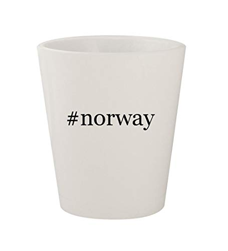 #norway - Ceramic White Hashtag 1.5oz Shot Glass