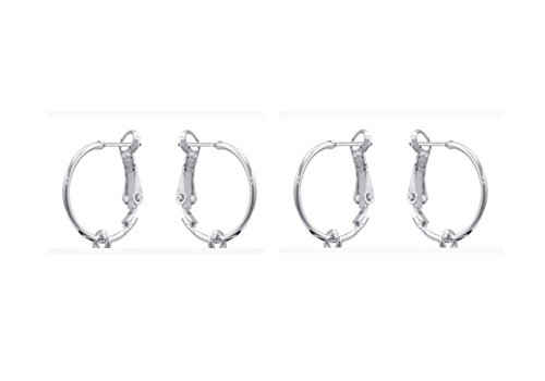 DaVinci Beads Double Silver Plated Earrings 2-Pack (Beads Sold Seperate) - Continental Bead