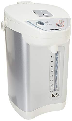 (Uniware Multi Function Dispense Electric Thermos Pot 360 Degree Rotating Base Stainless Steel Inner Pot, 6.5 Liter/ 6.9 Quart [7800-6.5])