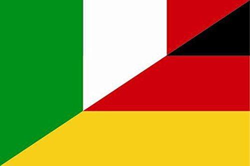 U24 Fahne Flagge Italien-Deutschland Bootsflagge Premiumqualität 20 x 30 cm