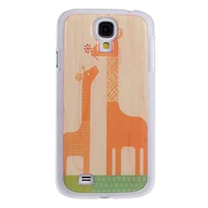 xiao Mother and Son Giraffes Pattern Hard Case for Samsung S4 I9500