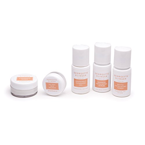 Georgette Klinger 5 PC Skincare Sample Kit – Sets Include Scrub, Cleanser, Toner, Mask & Moisturizer – Choose Dry/Sensitive or Combination/Oily Facial Products from GEORGETTE KLINGER