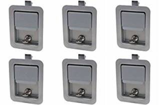 Set of 6, Buyers Products L3980-x6, L3885GO-x6 Paintable (not Stainless) Paddle Latch & Gasket for Tool Box Door, Truck and Utility Body ()