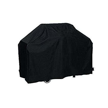 Impermeable barbacoa parrilla protectora barbacoa cubierta con bolsa de almacenamiento tamaño L (negro)