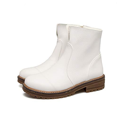 Stivali Stivali Stivali Ladies Autunno Flat Comodi In Pelle 40 40 40 40 Inverno Moda Mantieni Donna Da Di Chelsea Stivali Caldi Casual Stivaletti Morbidi White SqnvYx4