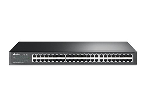 TP-Link 48-Port Fast Ethernet Unmanaged Switch | Plug and Play | Rackmount | Metal | Fanless | Limited Lifetime (TL-SF1048)