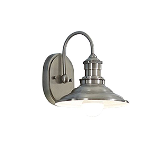 - allen + roth Hainsbrook 1-Light 8-in Antique pewter Cone Vanity Light