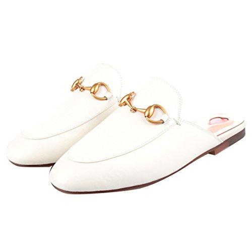 Bianco Sulla Caviglia Jyshoes Aperte Donna xwIzX57