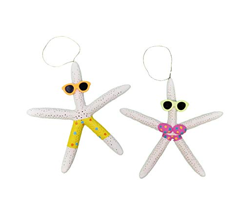 Tumbler Home Natural Starfish Beach Couple - Holiday Ornament – Fun All Year – Perfect for Beach Christmas Tree