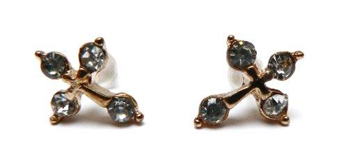Boucles d'oreilles Croix Dorée - Boucles d'oreilles Femme