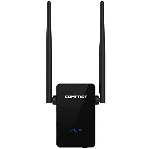 WiFi Range Extender, WiFi Repeater, Wireless-Network Range Extender &Signal Booster/Access Point/Router 300Mbps (US Plug, Black)