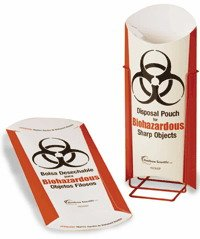 Heathrow Scientific HD23042P Paperboard Biohazardous Disposal Pouch, 140mm Length x 330mm Height x 10 mil Thick (Pack of 100)