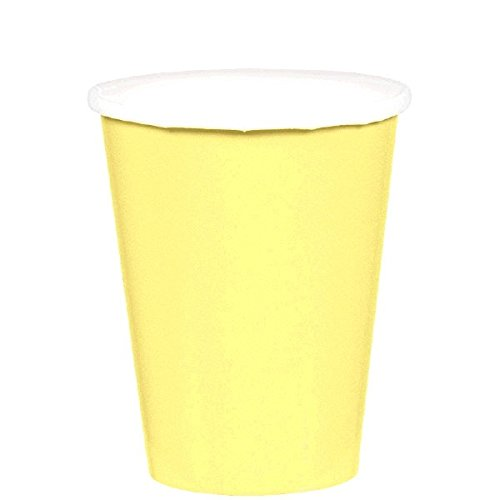 Solo Cup Halloween Costume (Light Yellow Paper Cups | 9 oz. | Pack of 20 | Party)