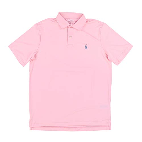 Polo Ralph Lauren Mens Performance Interlock Polo Shirt (Large, Pink)