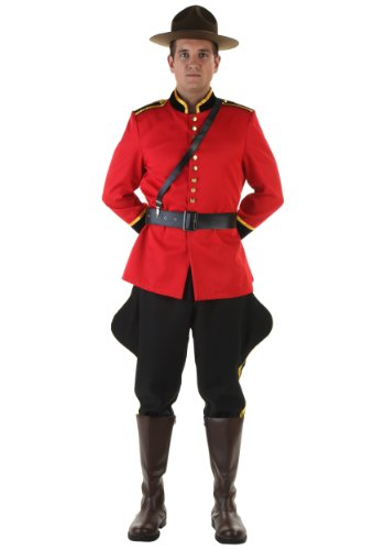 [Men's Canadian Mountie Costume - XL] (Little Red Riding Hood Costumes Child)
