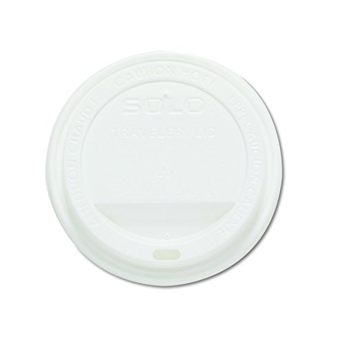 SOLO Cup Company TLP20 Traveler Drink-Thru Lids, White (Case of 1000)