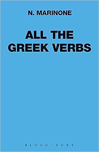 Amazon com: All the Greek Verbs (Greek Language