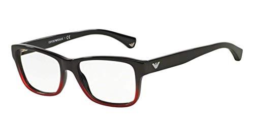 Emporio Armani EA 3051F Eyeglasses Black Gradient Coral On Black 53mm