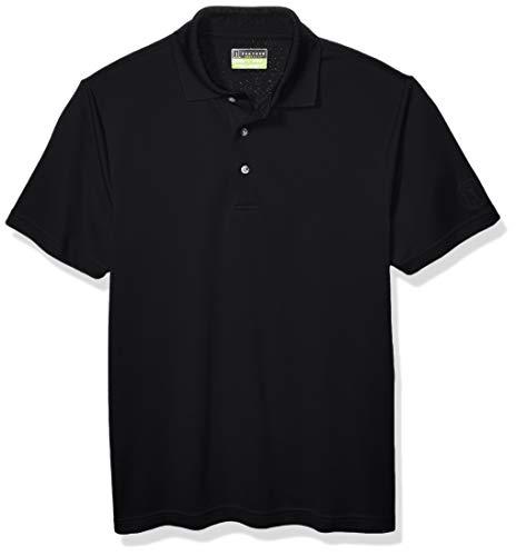 - PGA TOUR Men's Short Sleeve Airflux Solid Polo Shirt, Caviar, Slim Fit XXL