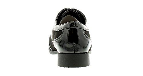 Zapatos Apache GB Tallas Cordones NEGRO 3 Con jazster MUJER Negro 8 NUEVO q7fxYRf
