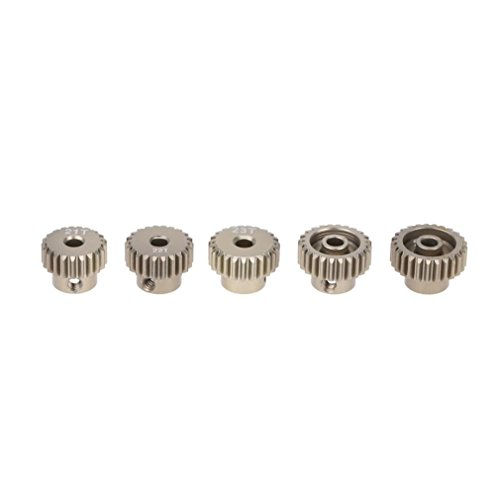 Brushless Pinion (Dreamyth GoolRC 48DP 21T 22T 23T 24T 25T Pinion Motor Gear Combo Set for 1/10 RC Car Brushed Brushless Motor (Silver))