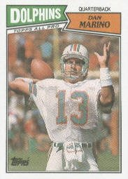 1987 Topps Dan Marino Football Card #233 - Shipped In Protective Display Case! (Autographs Rodriguez)
