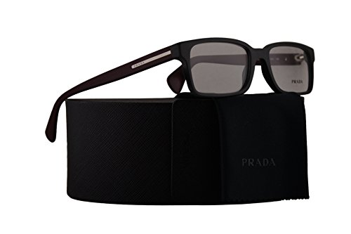 Prada PR15QV Eyeglasses 52-17-145 Matte Brushed Grey w/Demo Clear Lens TV41O1 VPR15Q VPR 15Q PR 15QV (Prada Reading Glasses For Men)