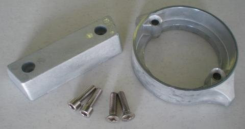 (Tecnoseal Anode Kit w/Hardware - Volvo Duo-Prop 290 - Aluminum - 1 Year Direct Manufacturer Warranty)