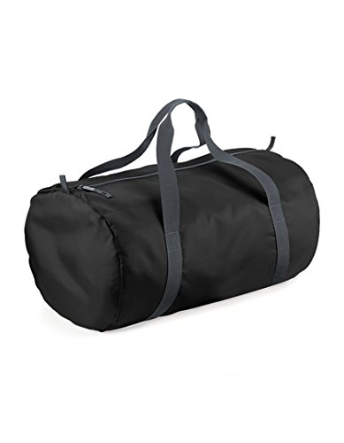 Price comparison product image Bagbase Unisex Packaway Barrel Bag One Size Black