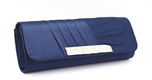 Ceremonies Soiree couleur Luxe Mariage Sac Sac Bleu Bling a party Pochette Cloud Plise Strass Different choisir Y avec pour de Portefeuille Main wq5IxFZH