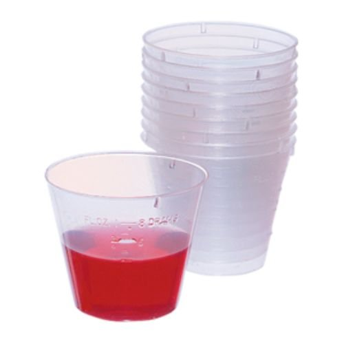 Crosstex CX1 Medicine Mixing Cup, 1 oz, Clear (Pack of 1000)