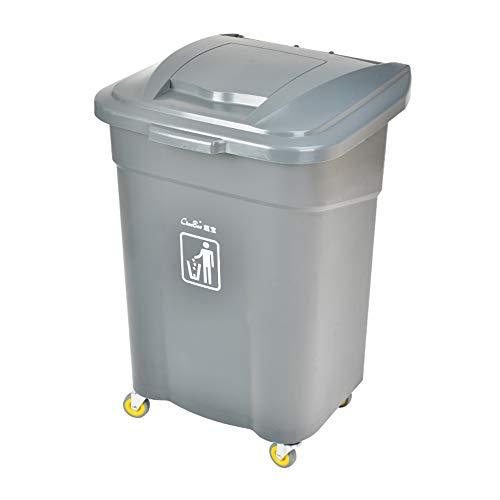 LXZ#Homegift Trash Can 60L Large Capacity Plastic Bucket With Wheels...