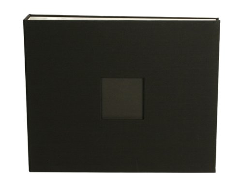 12 x 12-inch Cloth D-Ring Album by American Crafts | Black, includes 5 page protectors