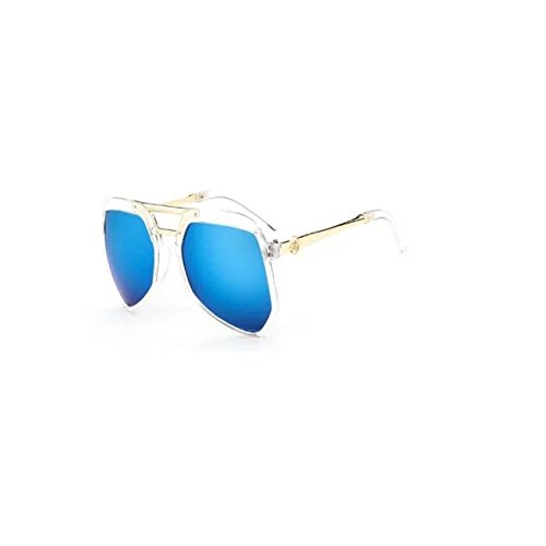 Garrelett Casual Style Kids Sunglasses Reflective Sun Eyewear Eyeglasses Clear Frame Blue Lens for Girls - Sunglasses Bloc Golf
