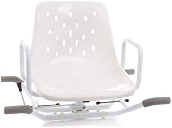 Mopedia Badewannensitz aus lackiertem Stahl, drehbar, Weiß