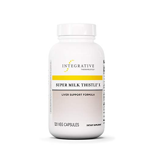Integrative Therapeutics - Super Milk Thistle X - Liver Support Formula - Blended w/ Artichoke, Dandelion Lead, & Licorice Root Extracts - 120 Capsules ()