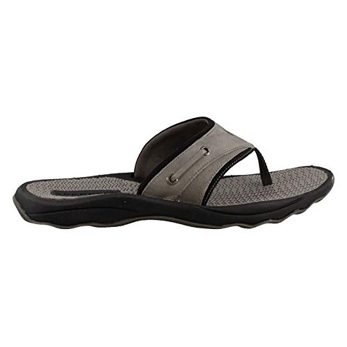 SPERRY Men's, Outer Banks Thong Sandals Grey Black 11 M