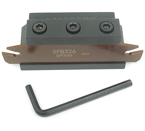 SPB326 SPB26-3mm Grooving Parting Blade Plate SMBB2026 Cut Off Block Tool Holder ()