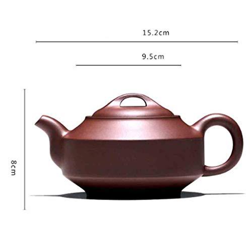 Tea Cozies Pure Handmade teapot Large Capacity Kung Fu Tea Set Tao Jian Hanjun Pot (Color : Brown, Size : 15.29.58cm) by Tea Cozies (Image #6)