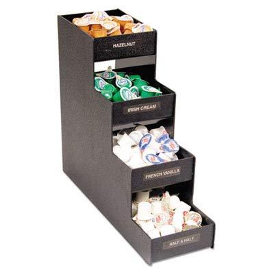 ADVANTUS Corp VFC1916RC Narrow Condiment Organizer, 6w x 19d x 15 7/8h, Black