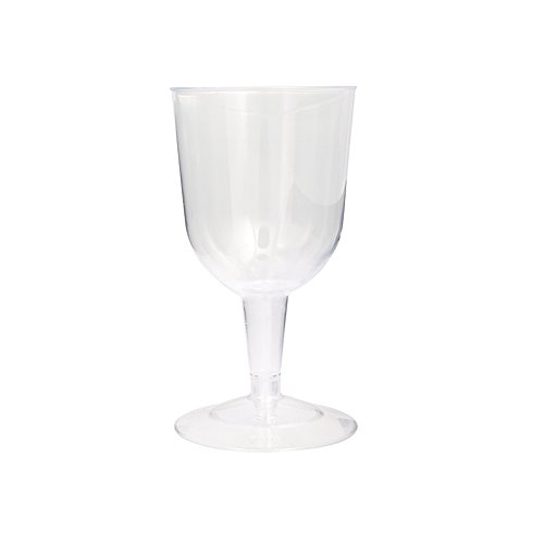 5.5oz Clear Plastic Wine Glasses, 8ct