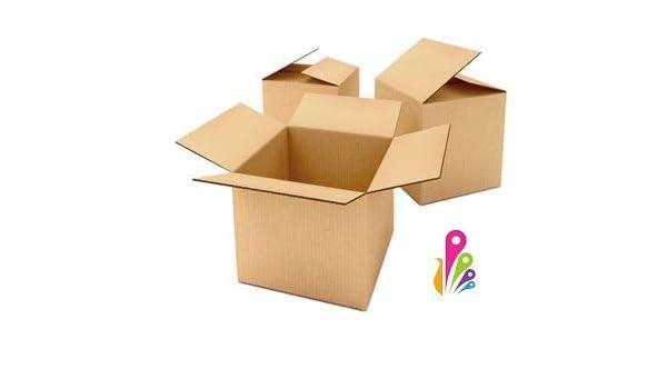 Pack de 10 cajas de cartón, cajas de embalaje, almacenamiento, mudanzas, etc. 514 x 514 x 414mm. De DOBLE CANAL reforzado, gran rigidez y resistencia.Caja de cartón reciclado ECOCCEL: Amazon.es: Oficina y