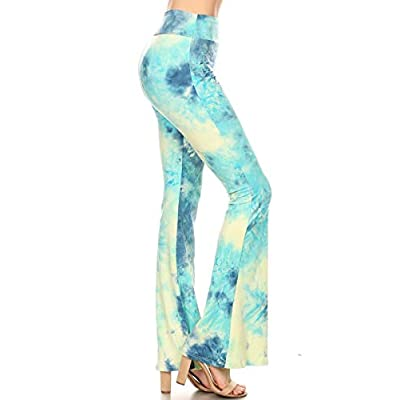 Leggings Depot Ultra Soft Popular Printed Stylish Palazzo Pants BAT1 at Women's Clothing store