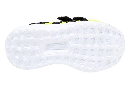 gibra - Zapatillas para deportes de interior de textil/sintético para niña verde fluorescente y negro