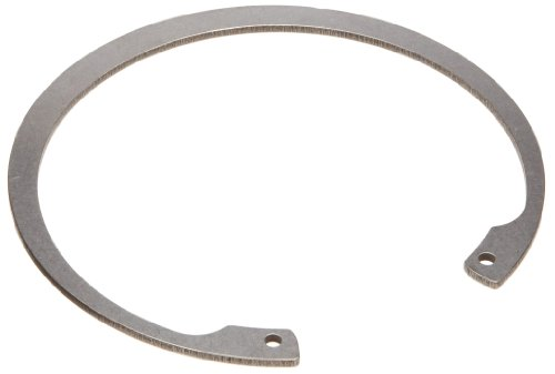 Standard Internal Retaining Ring, Tapered Section, PH17-7 Stainless Steel, Passivated Finish, 4'' Bore Diameter, 0.109'' Thick, Made in US by Small Parts