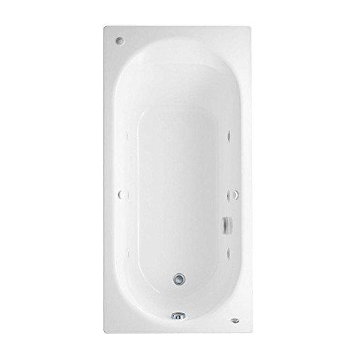 American Standard 2470028WC.020 Stratford 5-1/2-Feet by 32-Inch Whirlpool Bath Tub with Everclean Hydro Massage System I, White