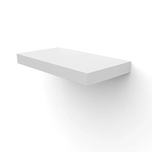 Songmics Wandboard wandregal Bücherregal Größe & Farben auswählbar (400 x 200 x 38 mm, weiß) LWS504
