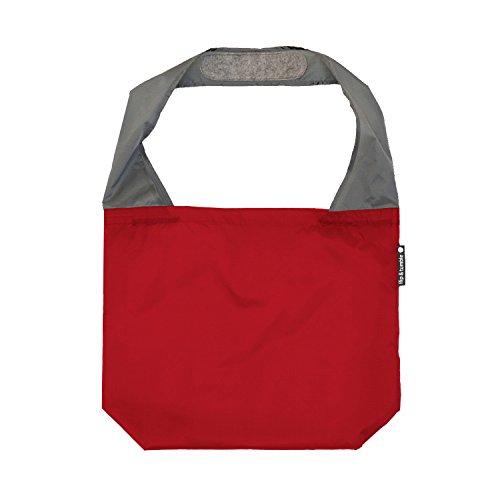 FLIP AND TUMBLE – Premium Reusable Grocery Bag - perfect Shopping Bag, Beach Bag, Travel Bag, Red