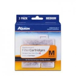 Power Filter Replacement Cartridge (Aqueon Water Filter Cartridge Replacement 06084 Medium 10 Gallon Aquarium, 3 Pack)